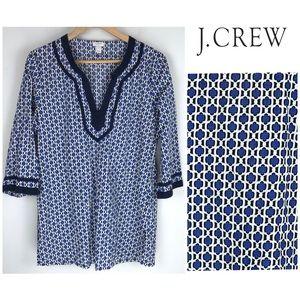 J. Crew Modern Moroccan Pullover Tunic Top Sz. M